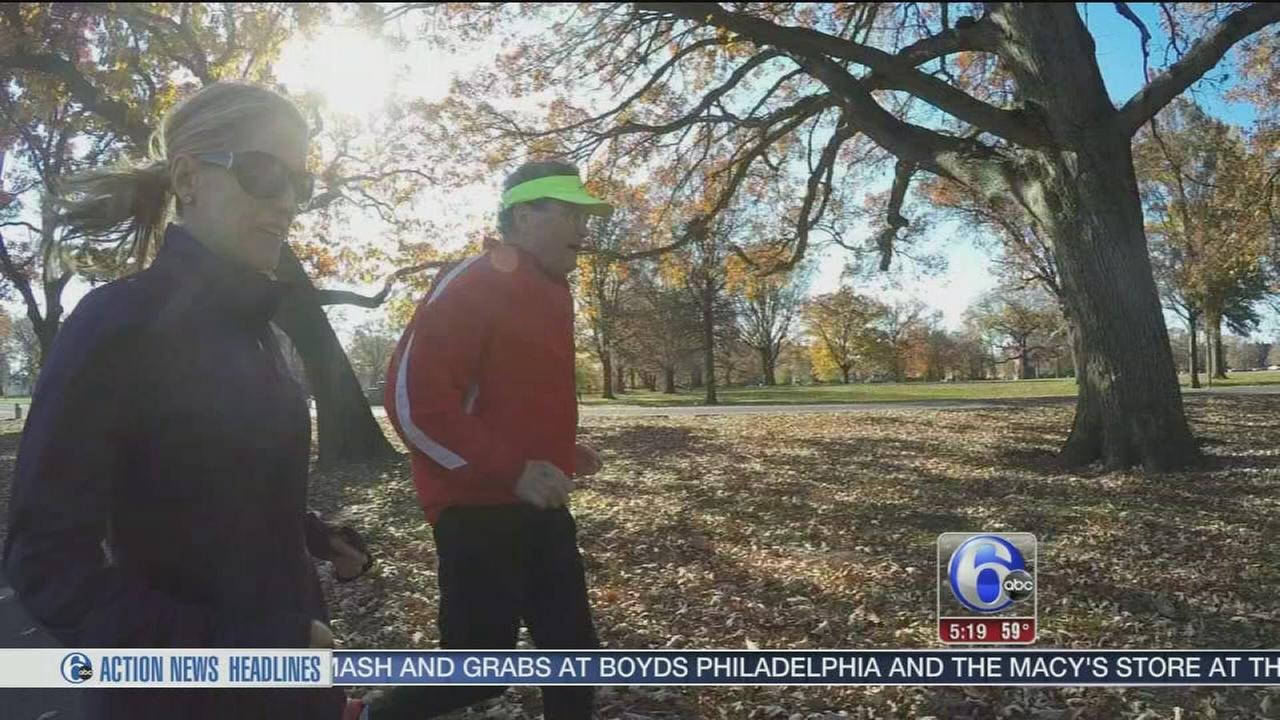 VIDEO: Cancer survivor running Philly Marathon