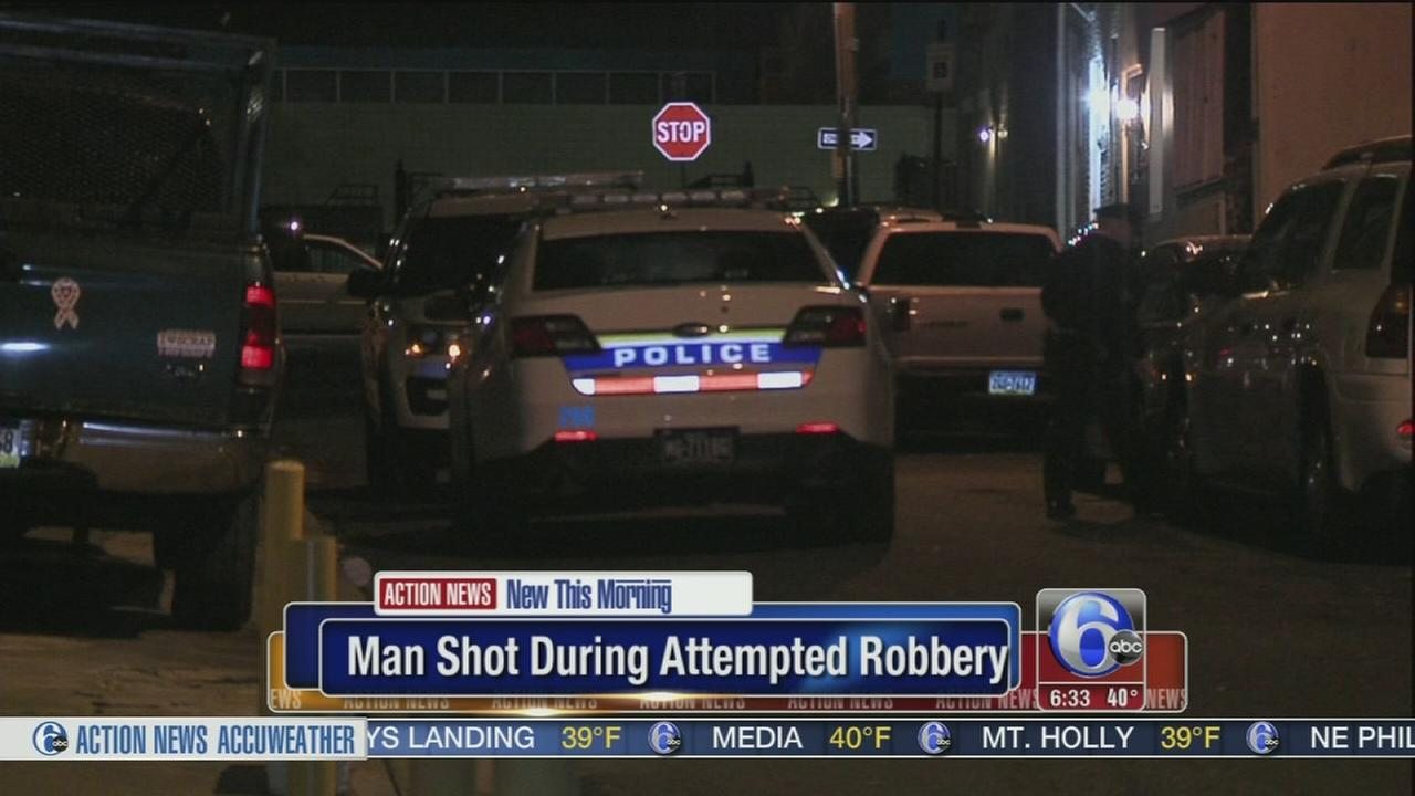 VIDEO: Man shot during attempted robbery