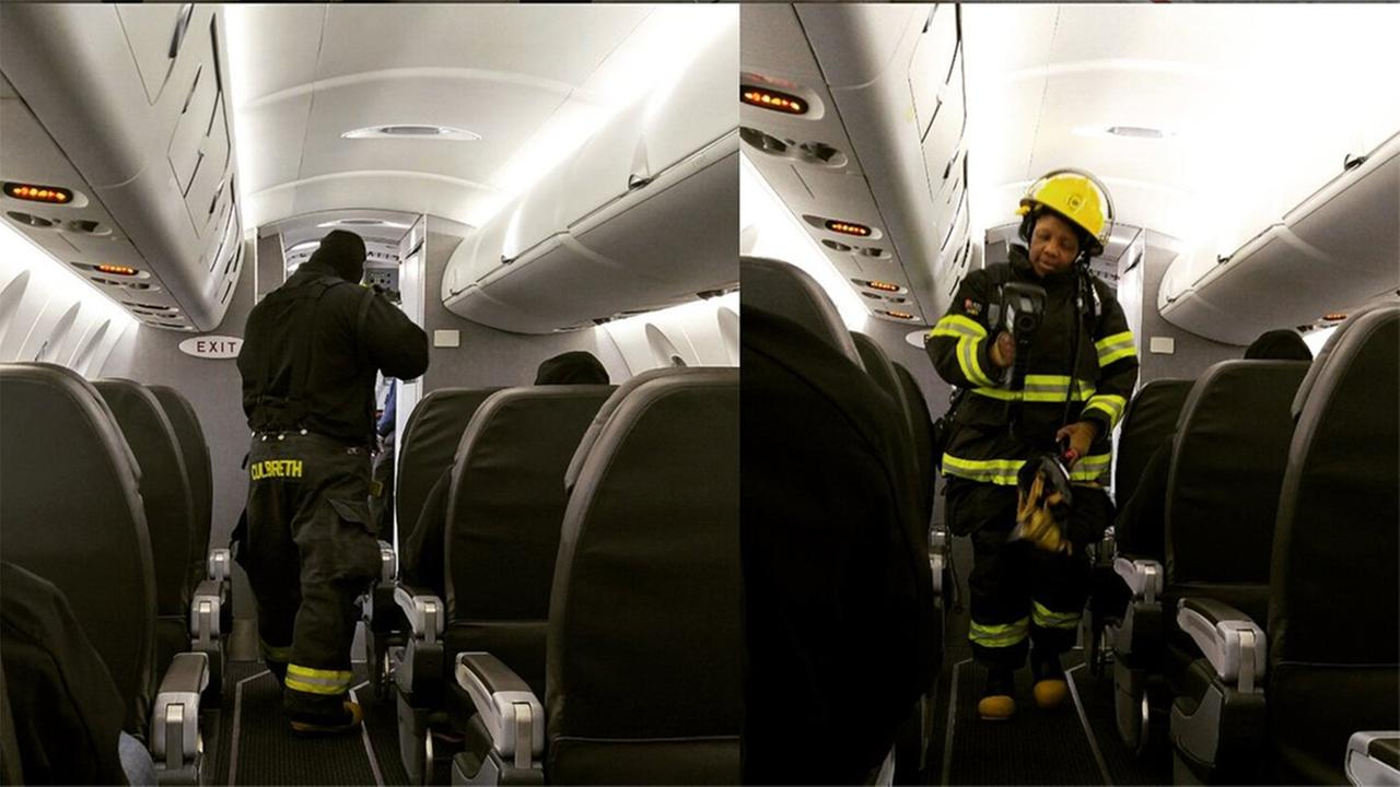 An American Airlines flight from Philadelphia to Cincinnati was stopped due to reported smoke in the cabin of the plane.