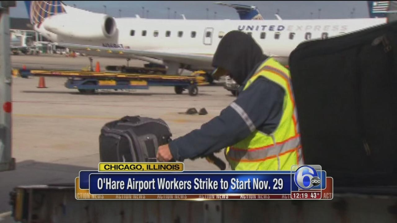 VIDEO: OHare workers delay strike until after Thanksgiving weekend