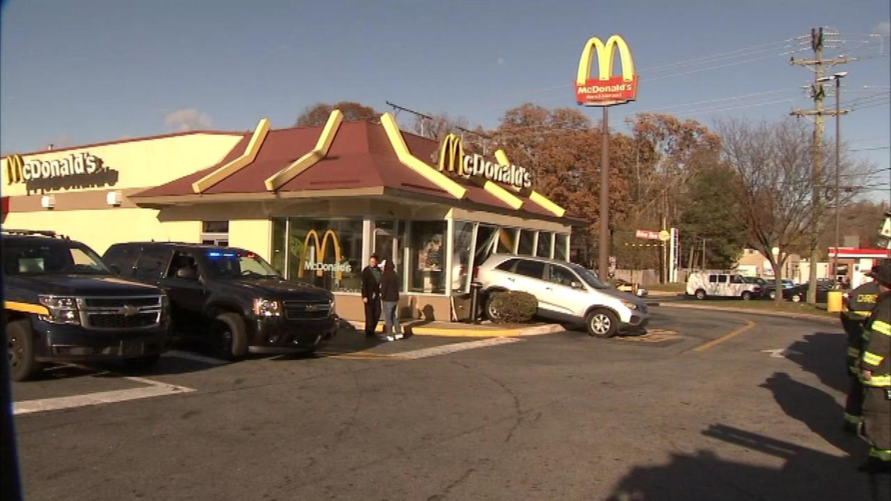 A driver crashed into a McDonalds restaurant in Newark, Delaware.