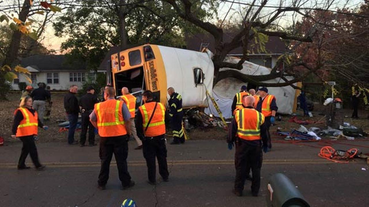 An elementary school bus crash in Chattanooga, Tennessee.ChattFireDept/Twitter