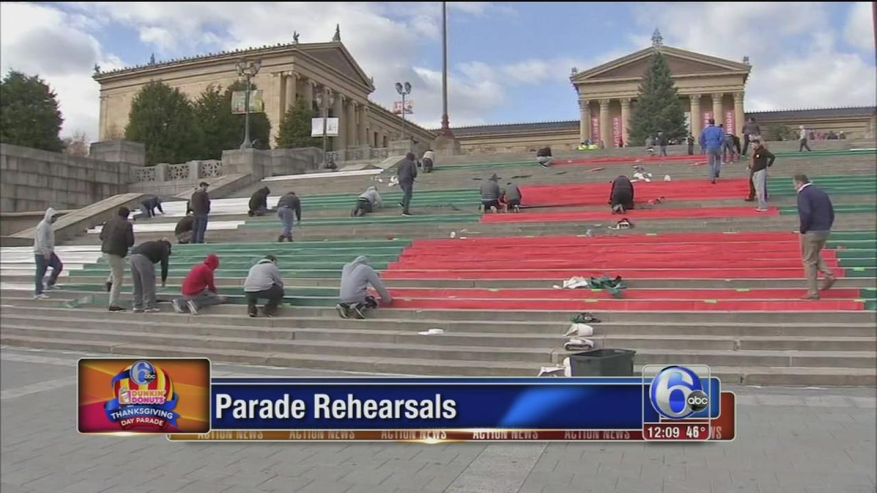VIDEO: Preps underway for 6abc Dunkin Donuts Thanksgiving Day Parade