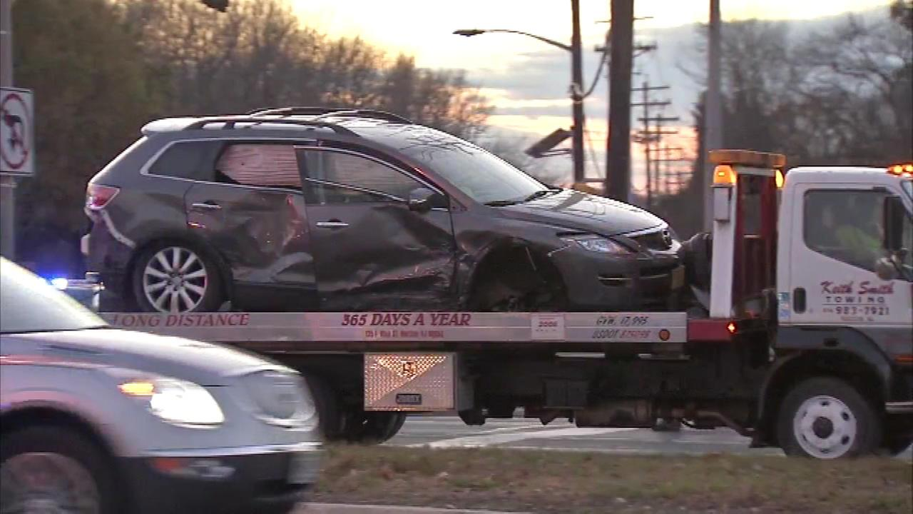 A police chase led to a multi-vehicle crash in Evesham Township, N.J.