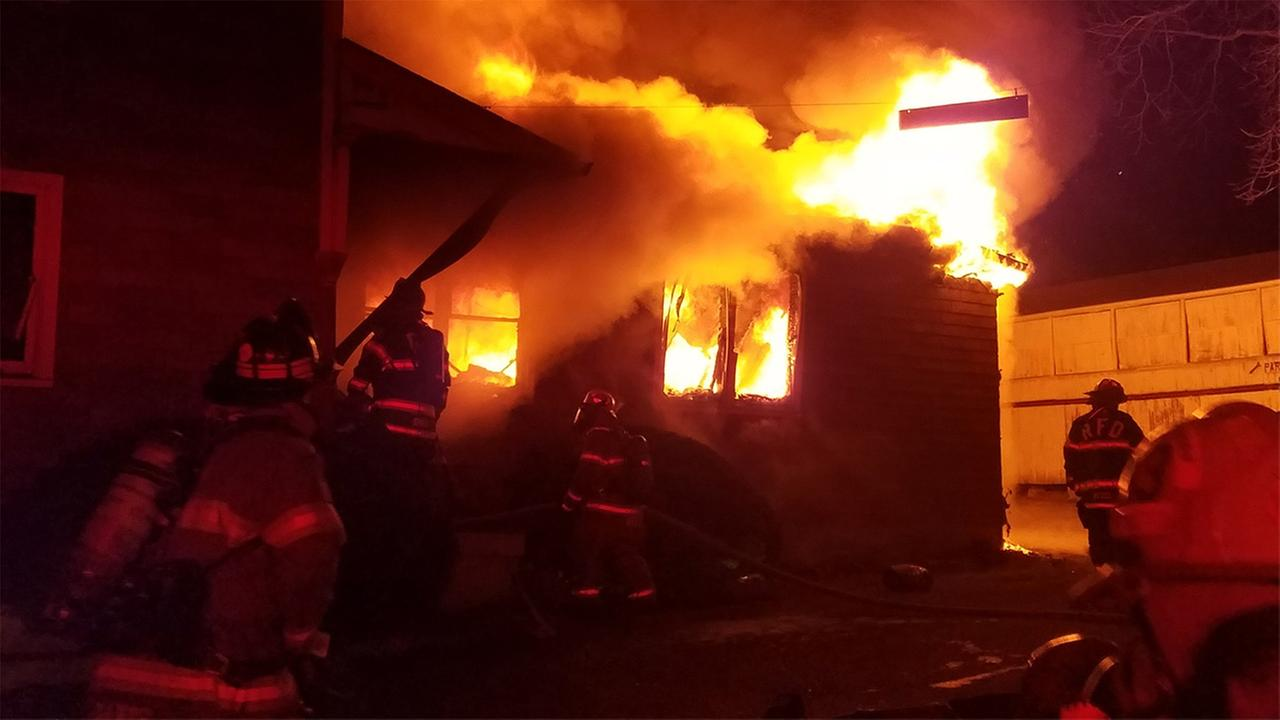 Firefighters battled a stubborn fire at a lumber mill in Royersford, Montgomery County.