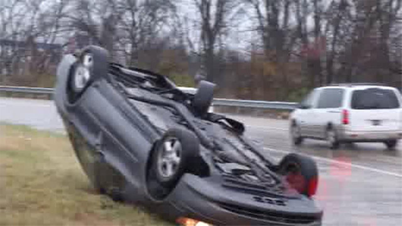 Driver rescued from vehicle in Delaware crash