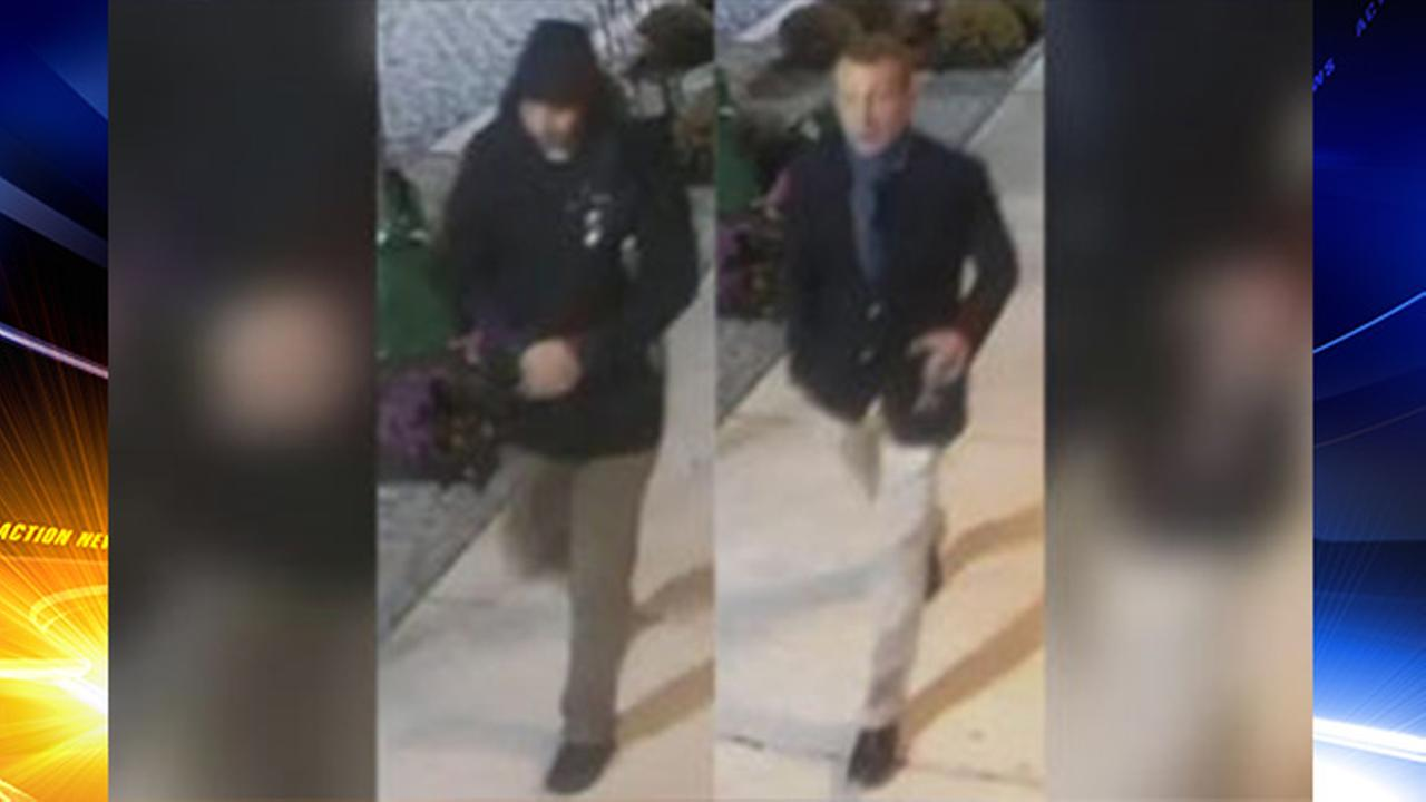 2 men, 1 carrying wine glass sought for vandalism in Chestnut Hill