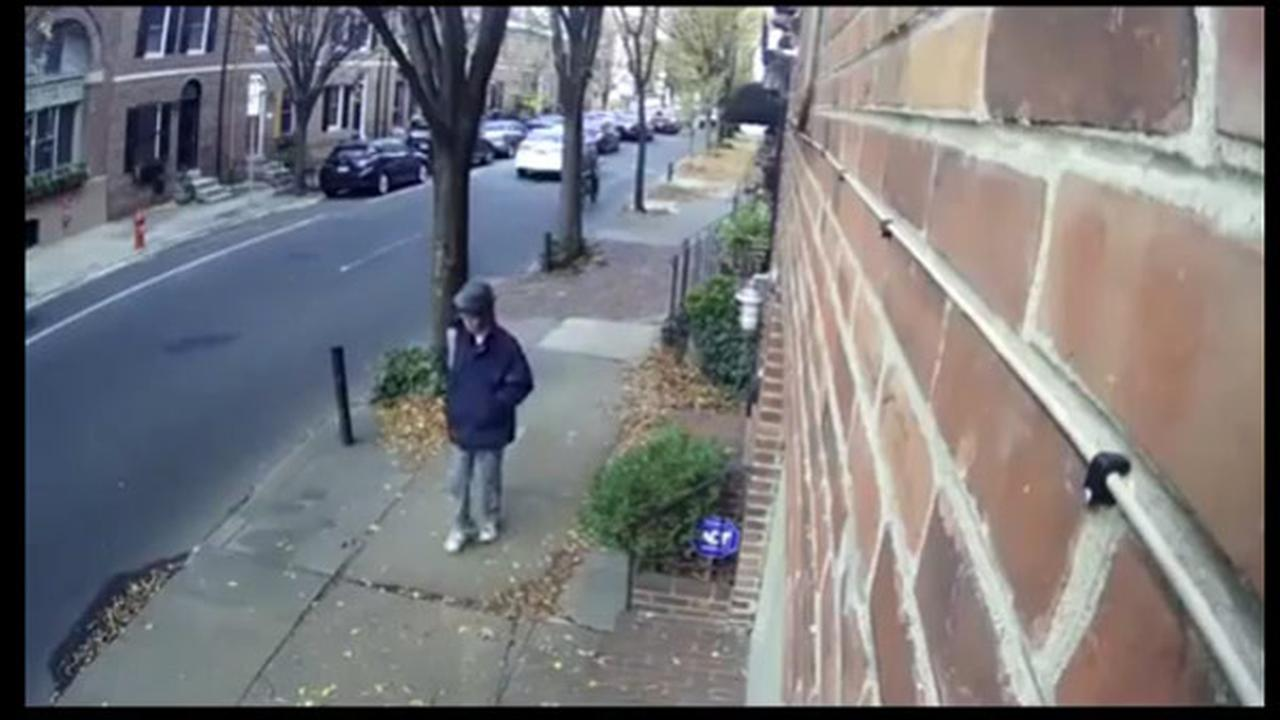 Philadelphia police have released images of a person of interest in connection to the package explosion in Center City.