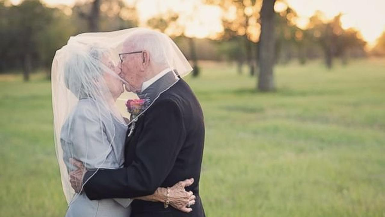 Couple marks 70th wedding anniversary with photo shoot