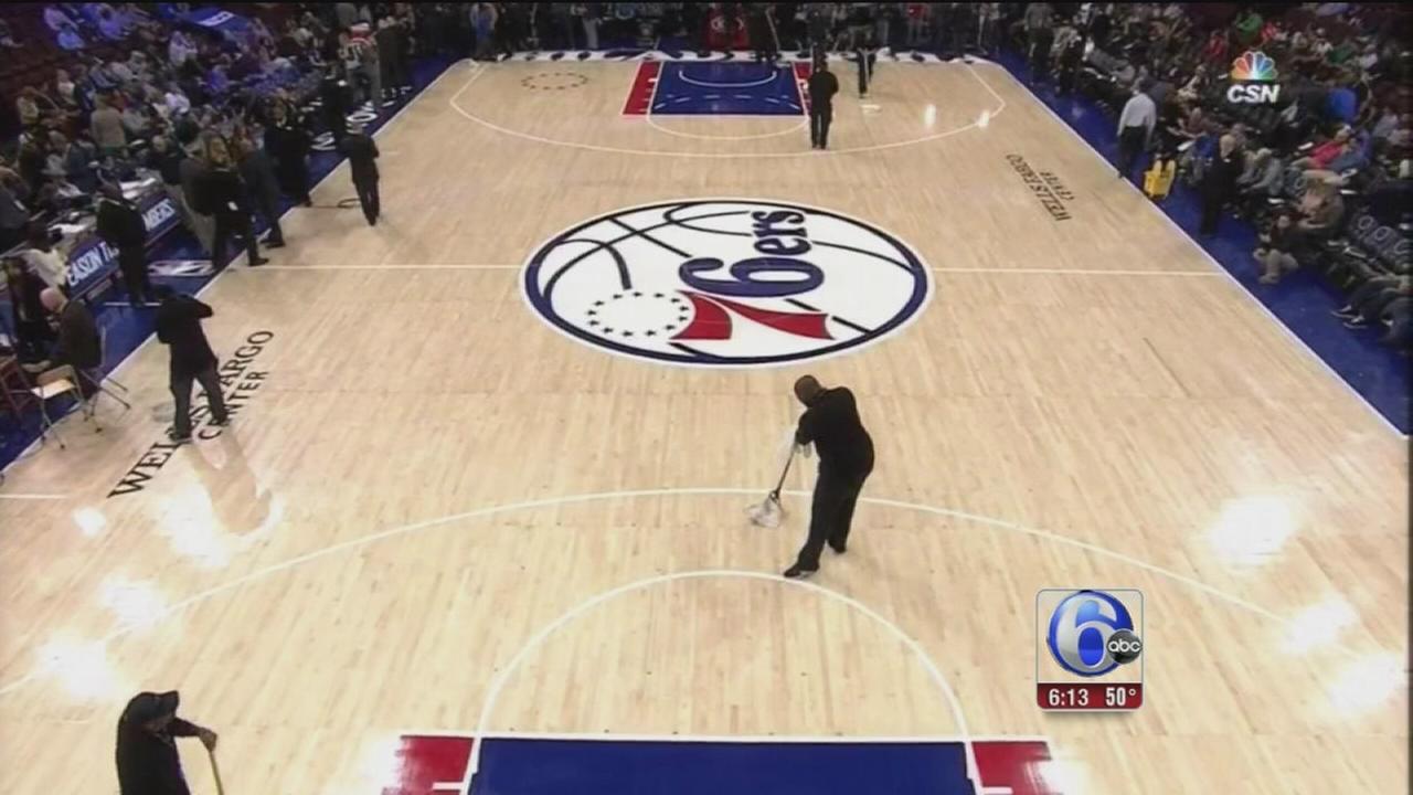 VIDEO: Sixers floor