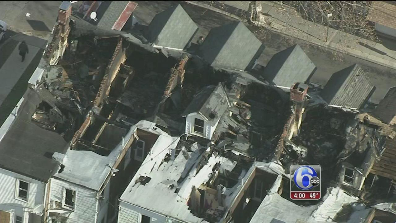VIDEO: 6 homes destroyed in massive Allentown blaze