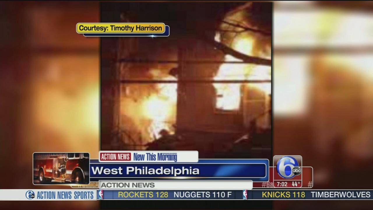 VIDEO: Fire forces 5 people from West Philadelphia homes