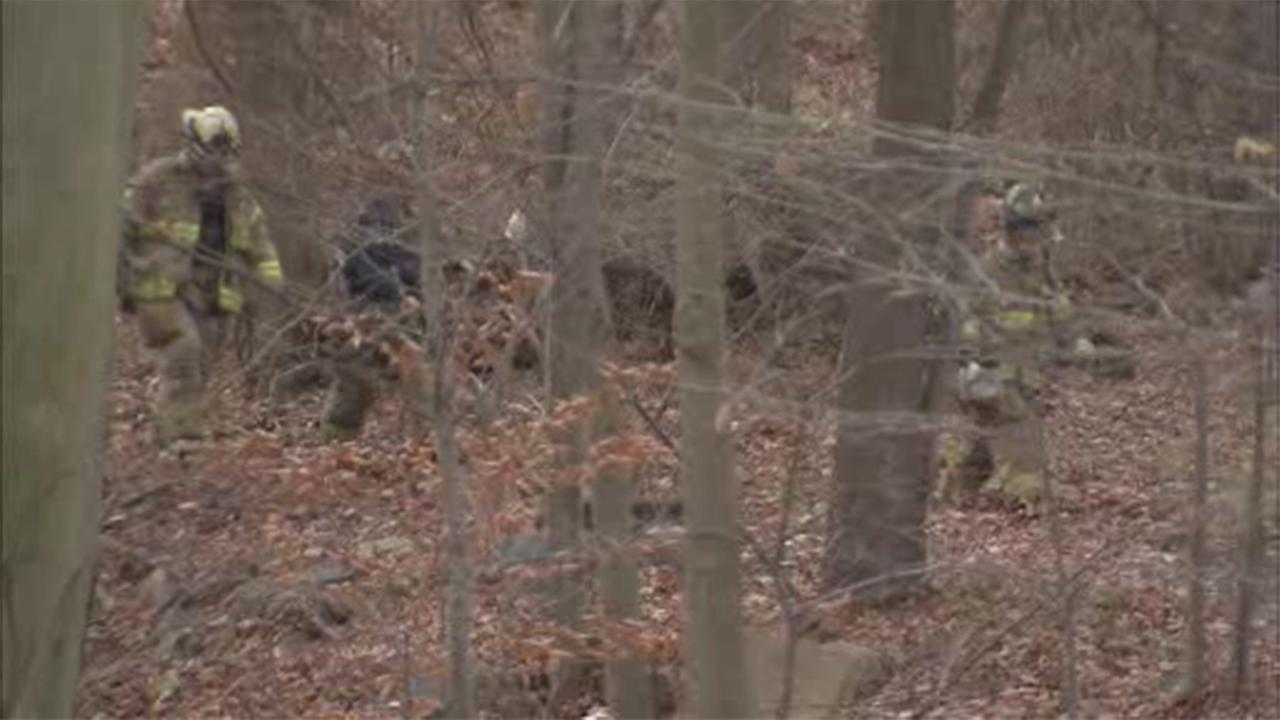 Neighbors in a Delaware County community discovered a body in a wooded area in Upper Chichester.