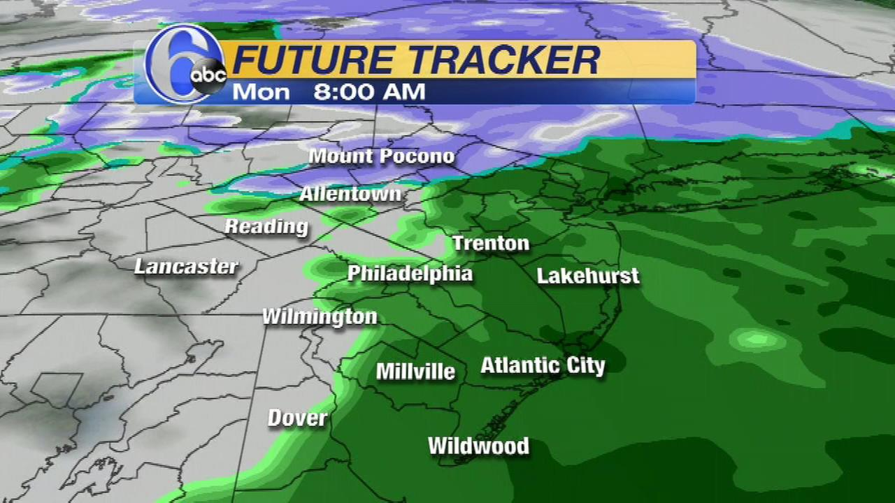 AccuWeather is calling for a wintry mix which will see snow in part of the region and rain in others late Sunday night into early Monday morning.