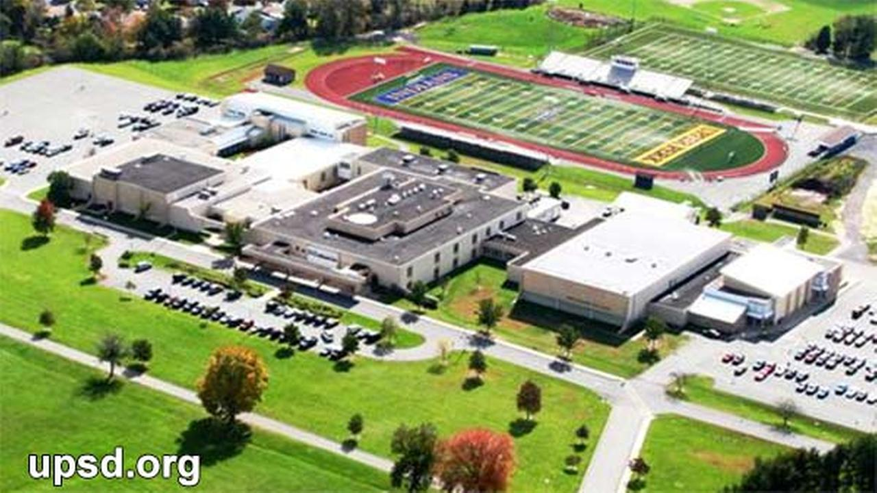 This undated photo shows and aerial view of Upper Perkiomen High School