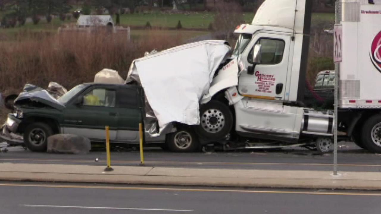 At least one person was killed in a crash in Lehigh County.