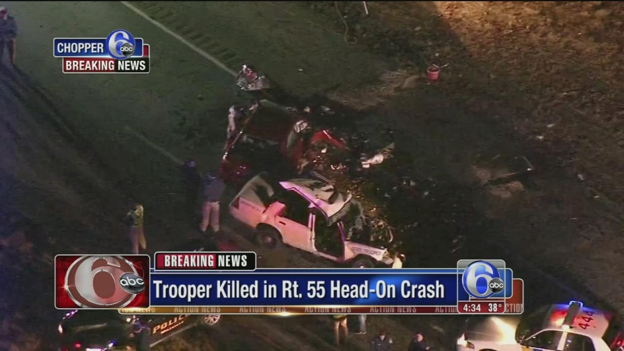 VIDEO: NJ state trooper killed in head-on crash