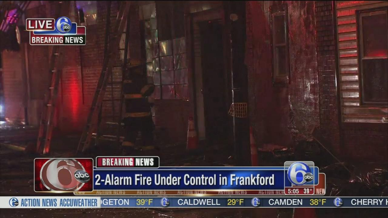 VIDEO: 2-alarm fire placed under control in Frankford