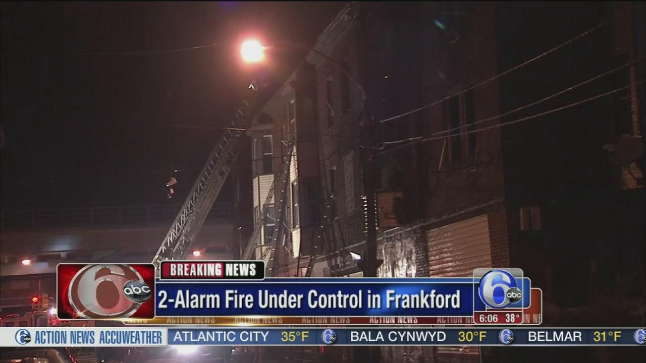 VIDEO: 9 injured in Frankford fire