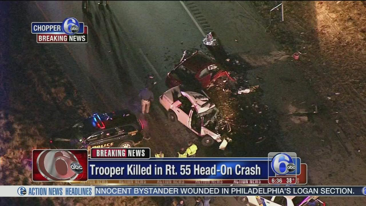 VIDEO: NJ State Police trooper killed in head-on crash