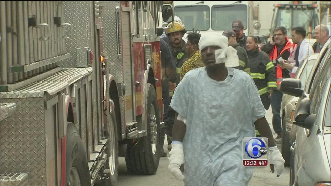 VIDEO: 9 hurt in Frankford blaze
