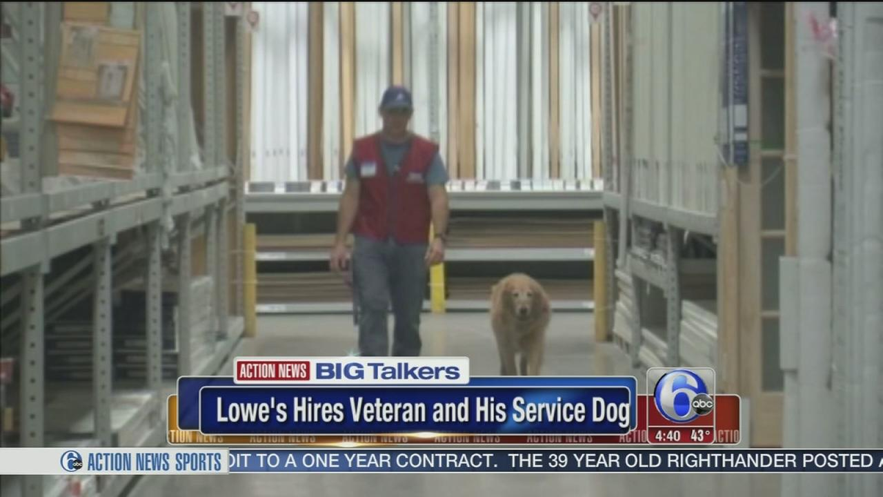 VIDEO: Lowes hires disabled veteran and his service dog