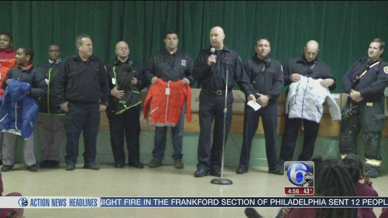 Firefighters to the rescue with coats