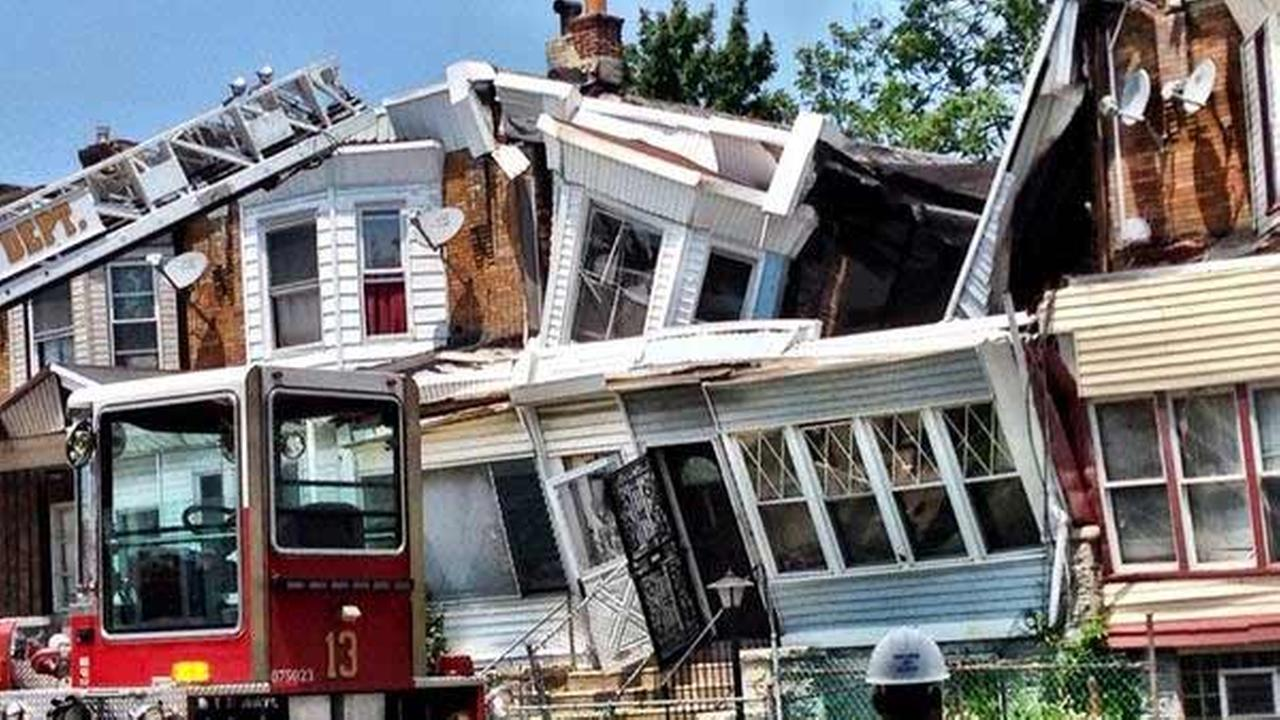 House collapse in Cobbs Creek