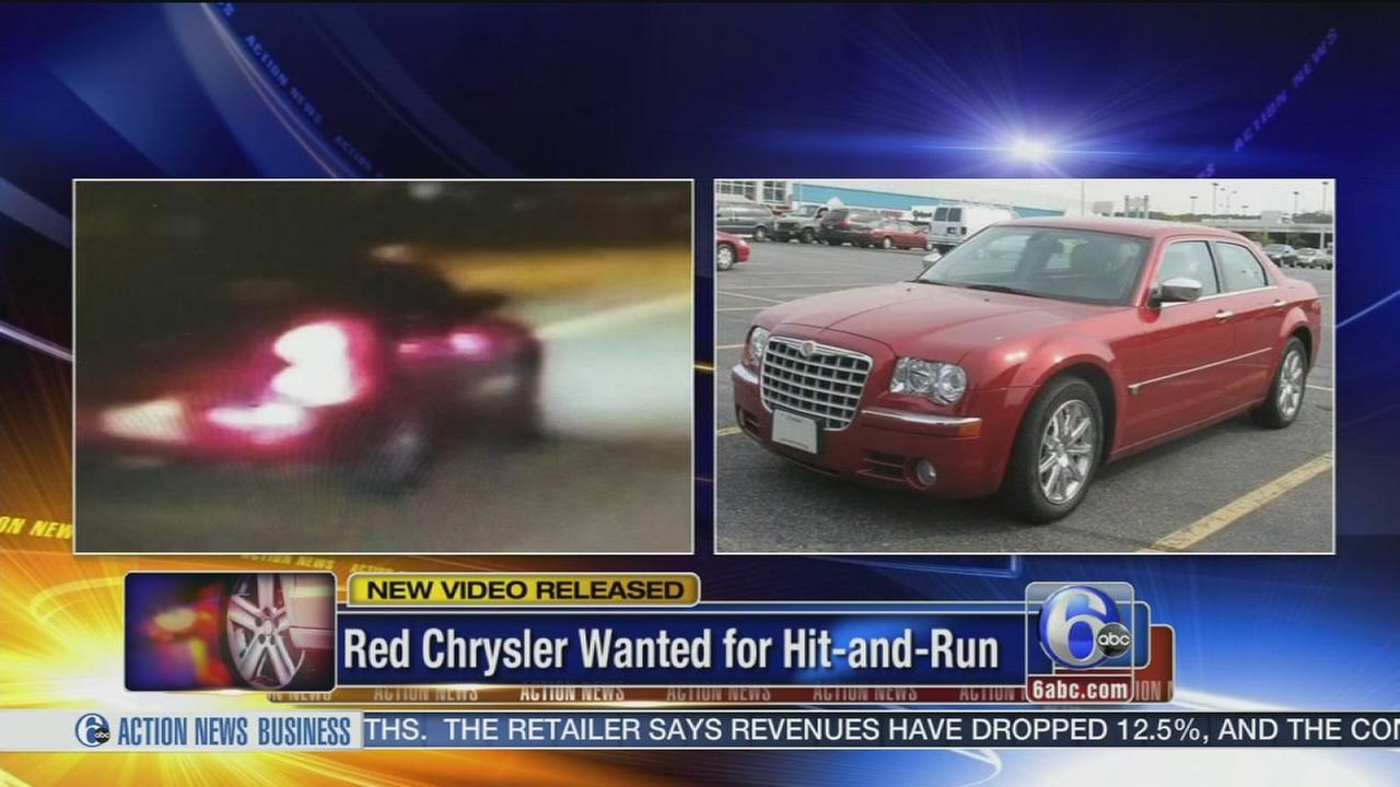 VIDEO: Red Chrysler wanted for hit-and-run