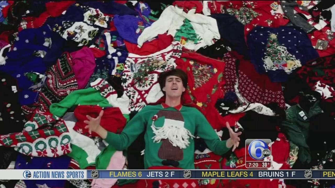 VIDEO: Ugly Christmas sweater auditions
