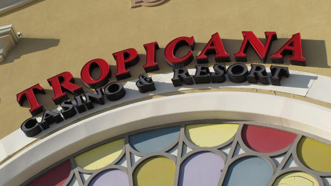 This Nov. 14, 2013 photo shows the facade of the Tropicana Casino and resort in Atlantic City, N.J.