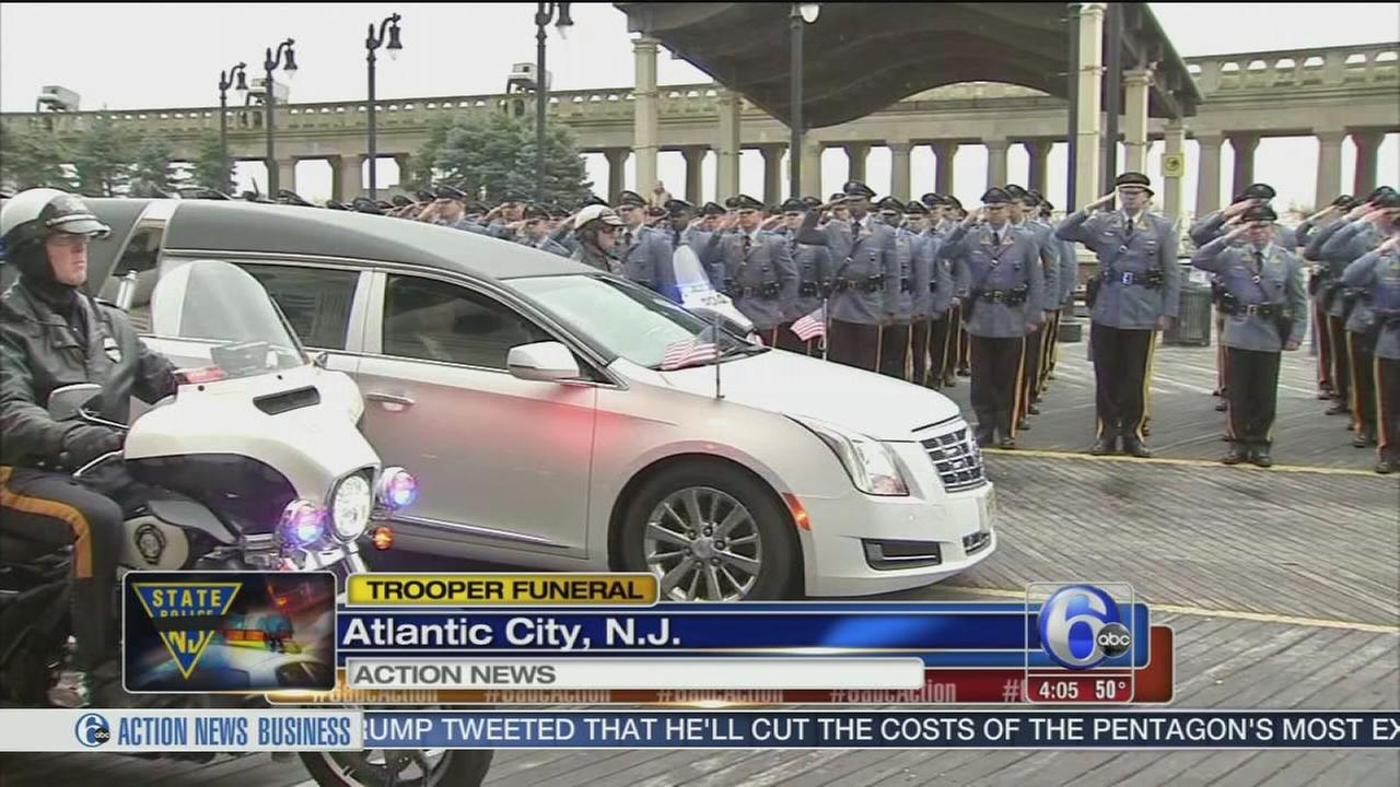 NJ trooper killed in crash honored at funeral in Atlantic City