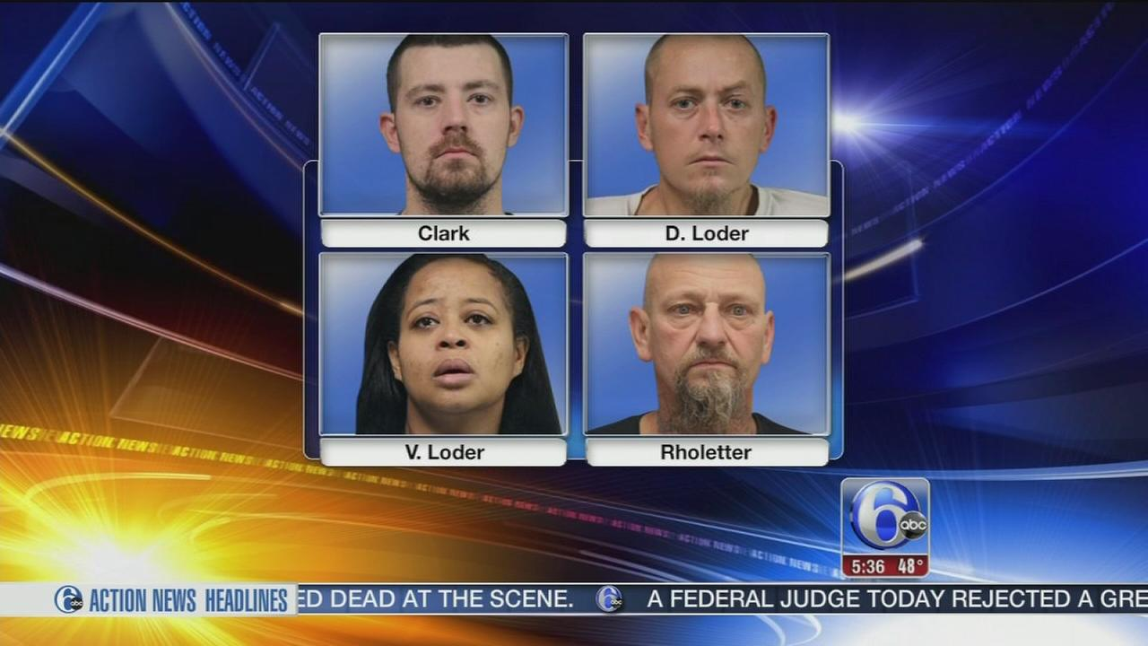 4 arrested after meth lab is found in Dover