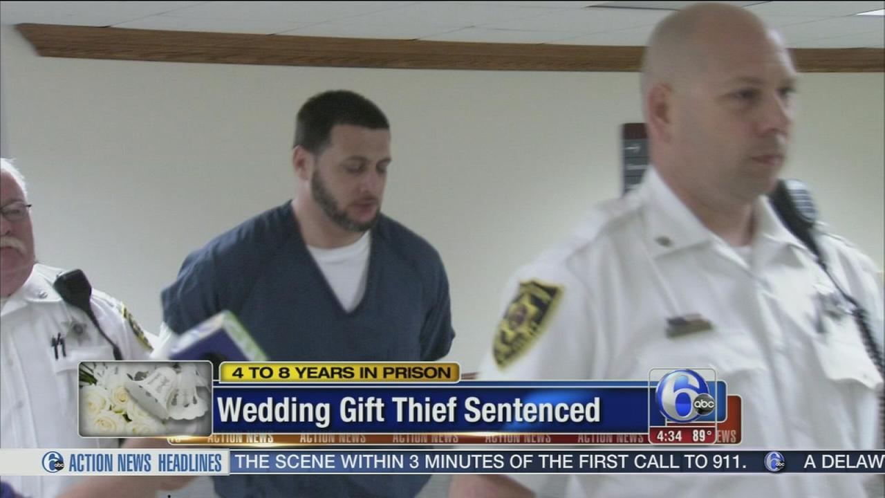 VIDEO: Wedding gift thief sentenced