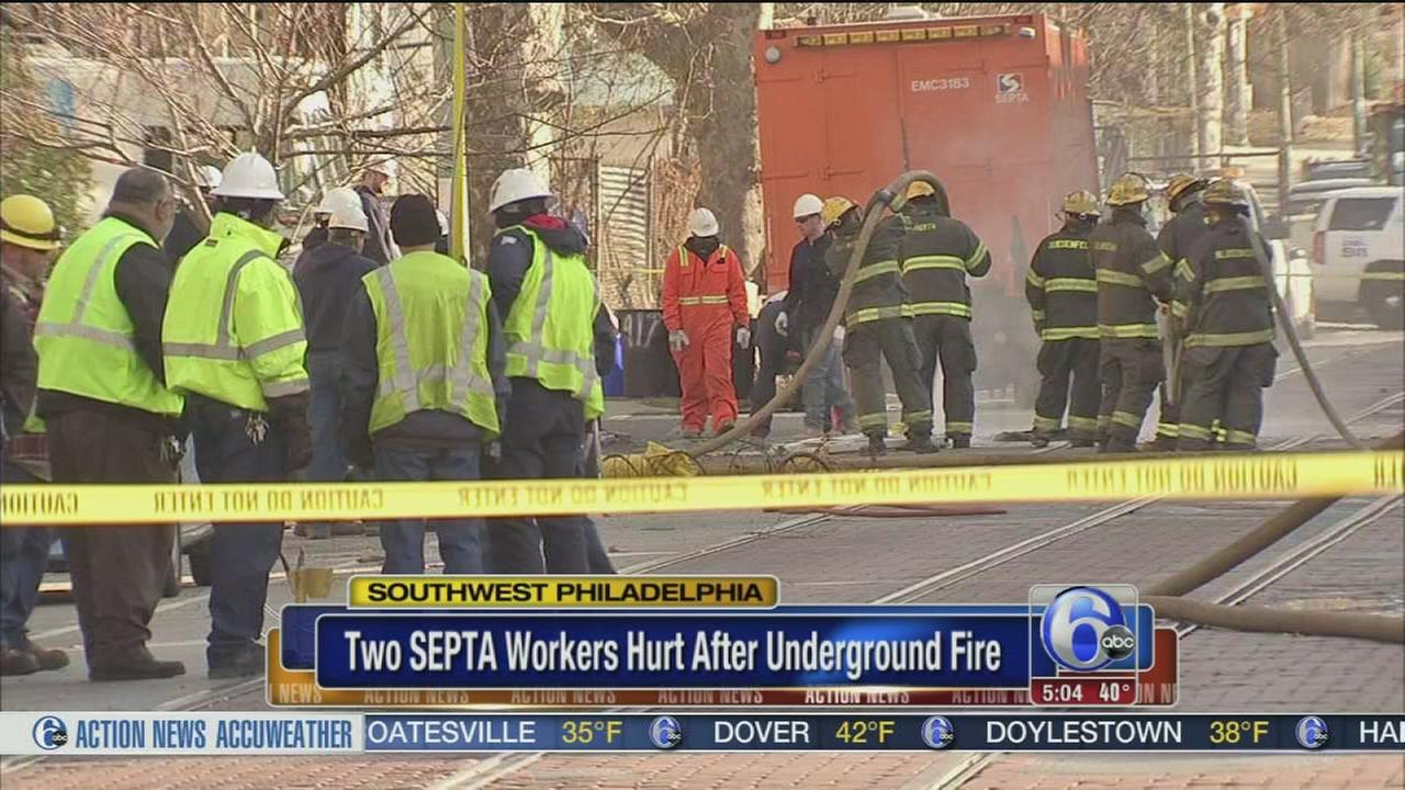 2 SEPTA workers hurt after underground fire
