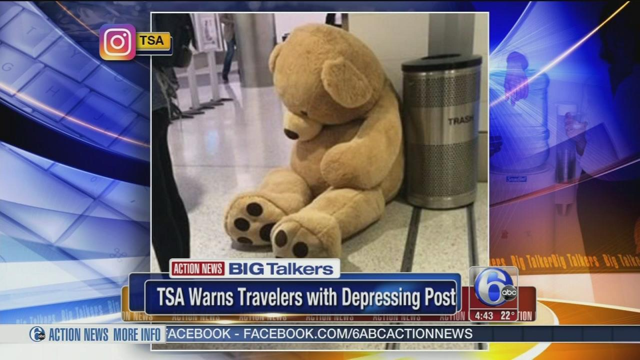 Massive Teddy bear abandoned at airport was part of a stunt, TSA says