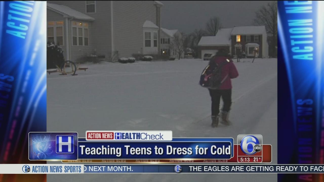 Teaching teens to dress for cold