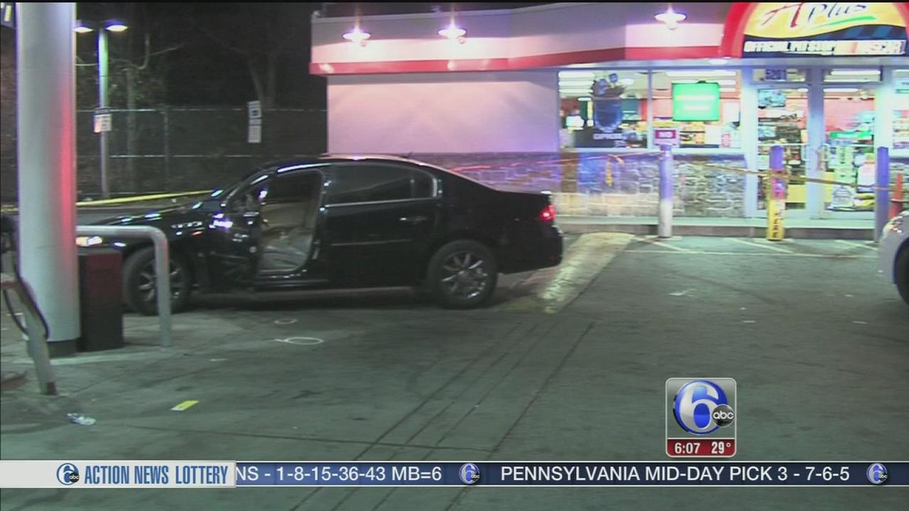 Man shot at Parkside gas station