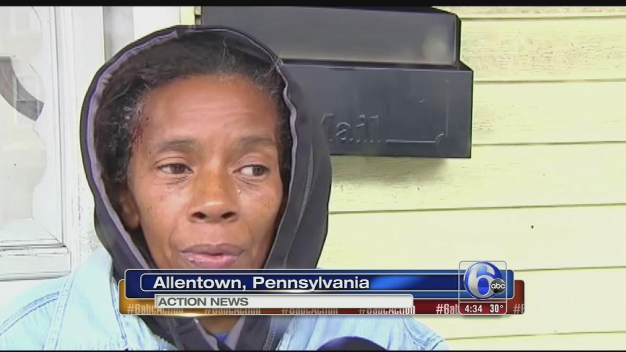 Shot hits woman looking out window of Allentown home