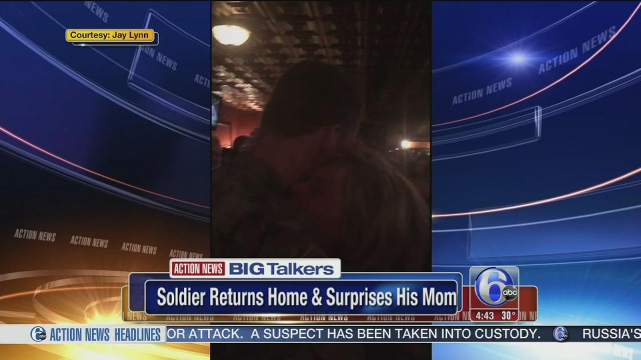 Soldier plans holiday homecoming surprise for mom in NE Phila.