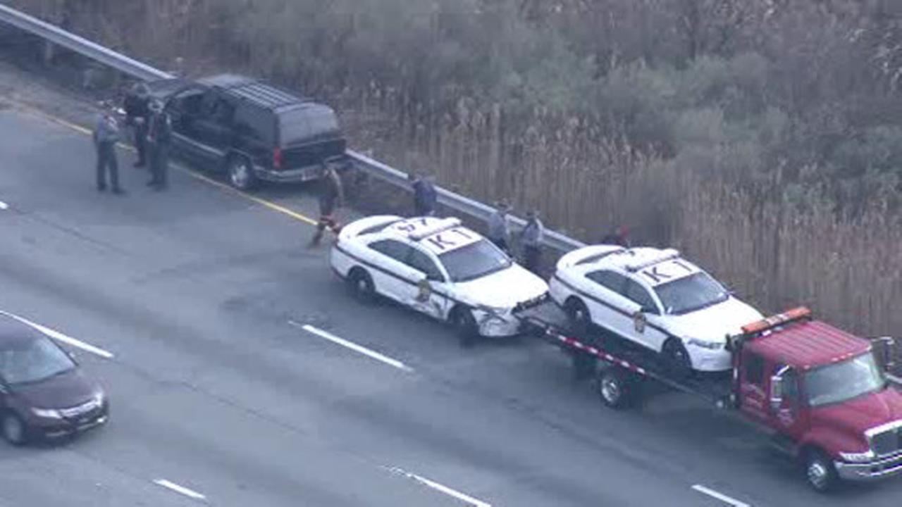 Police chase ends in I-95 crash in Upper Chichester, 2 arrested