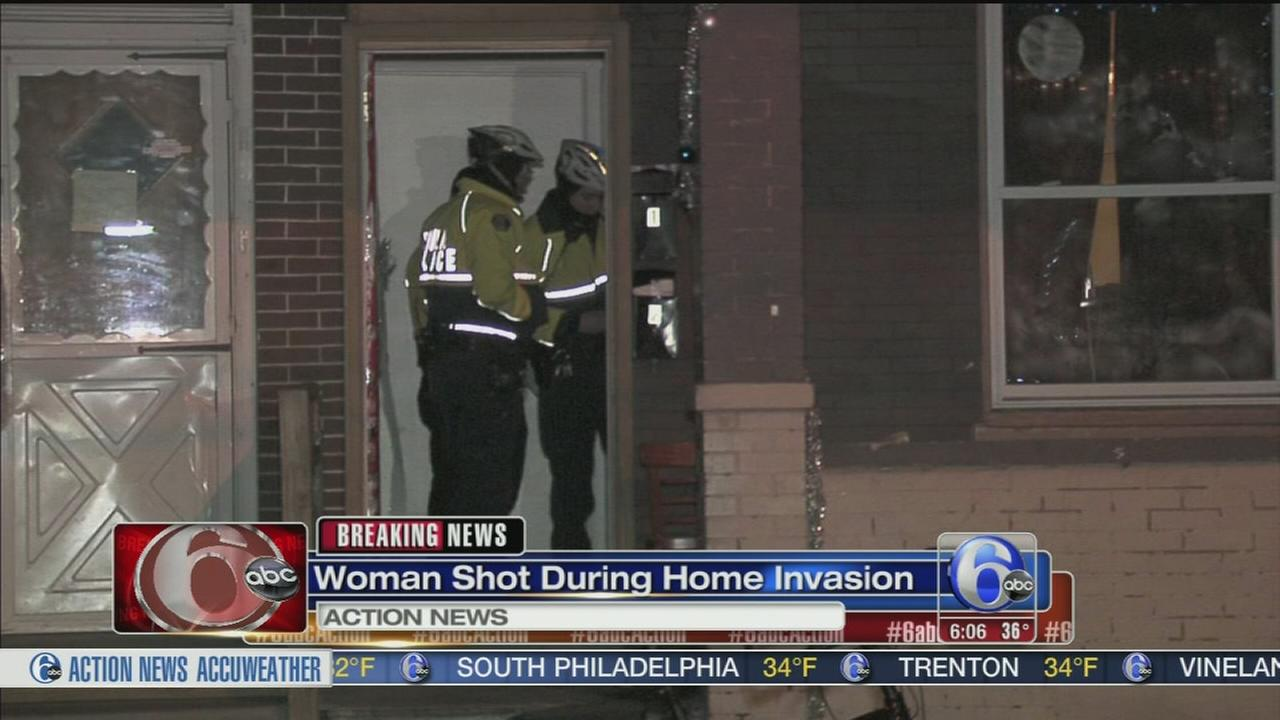 Woman shot during home invasion