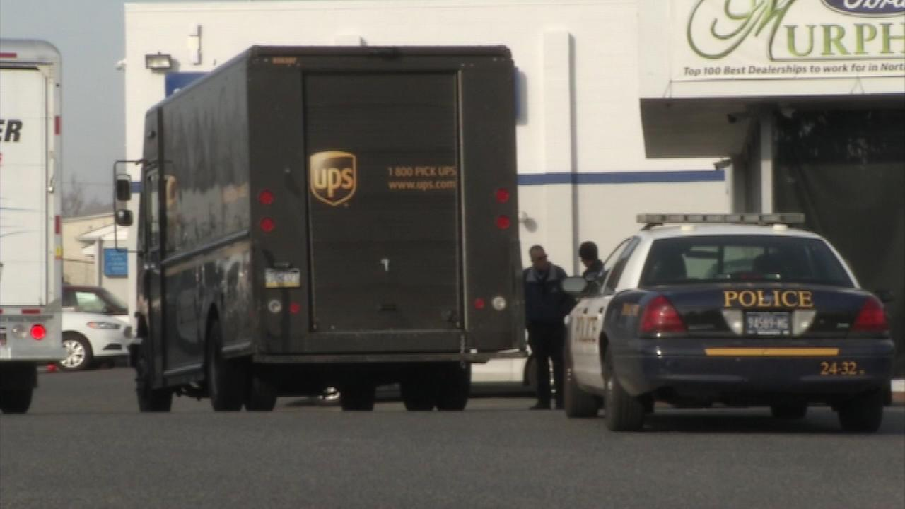 A UPS delivery driver was injured by gunfire in Chester, Delaware County Friday afternoon.