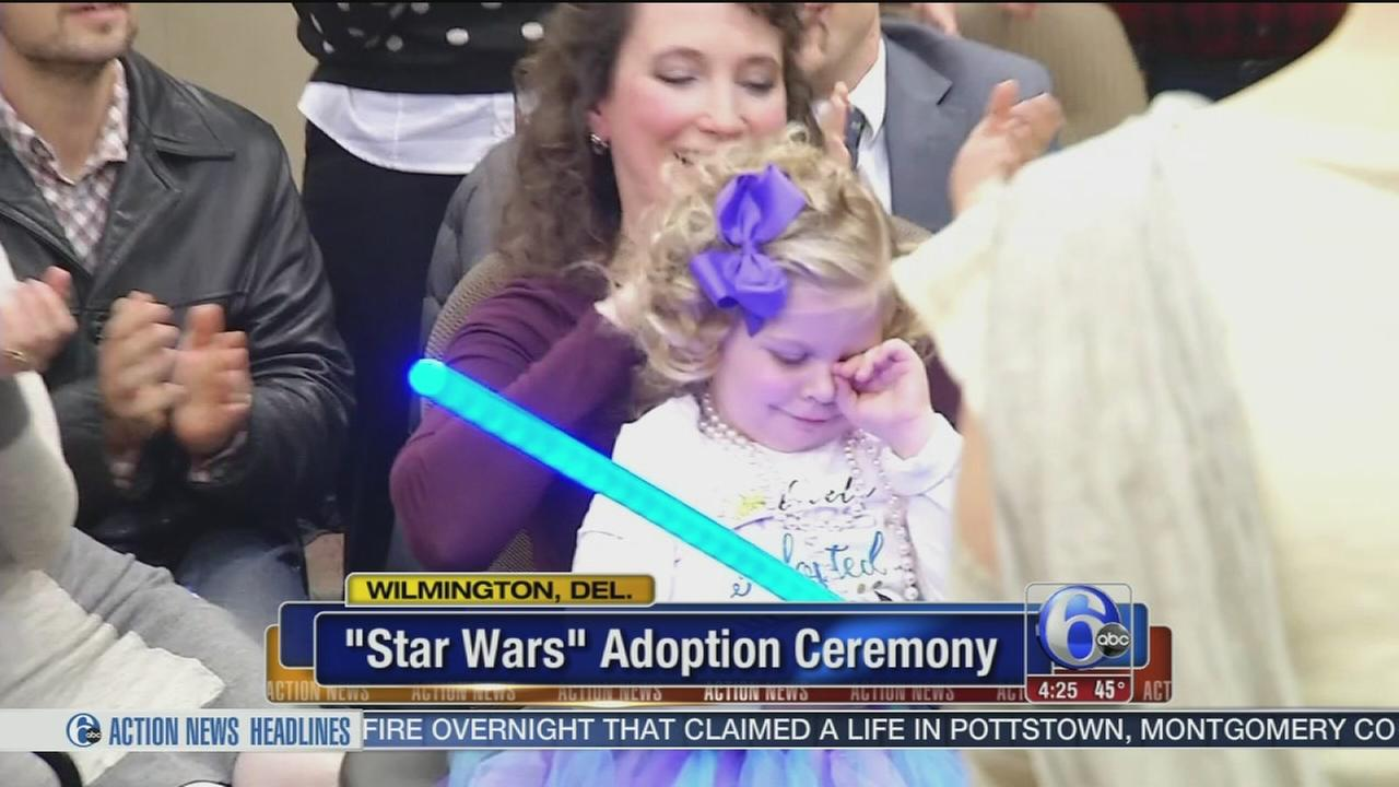 VIDEO: Mom plans Star Wars adoption ceremony for daughter