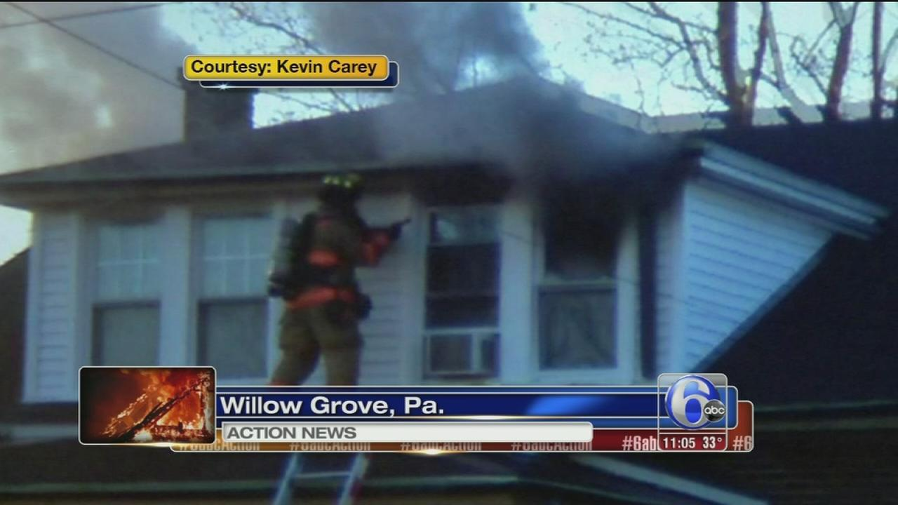 Firefighters rescue residents in Willow Grove