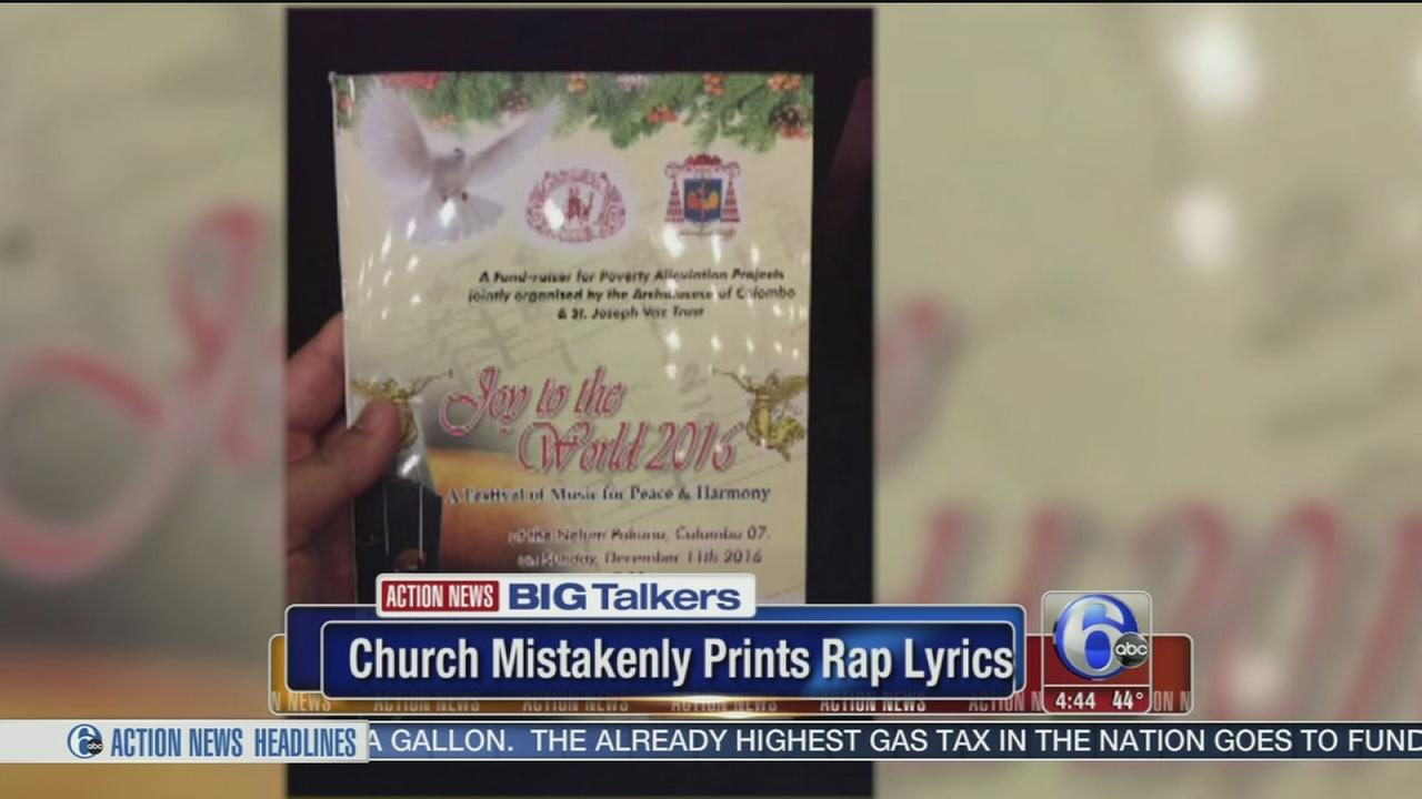 Church mistakenly prints rap lyrics instead of prayer