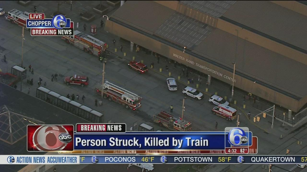 Person struck, killed by PATCO train