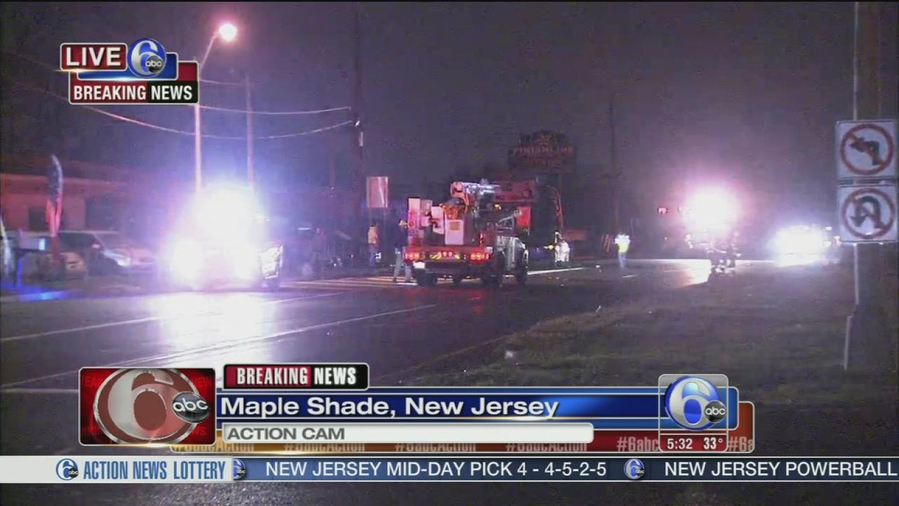 Downed wires shut down Route 73 in NJ