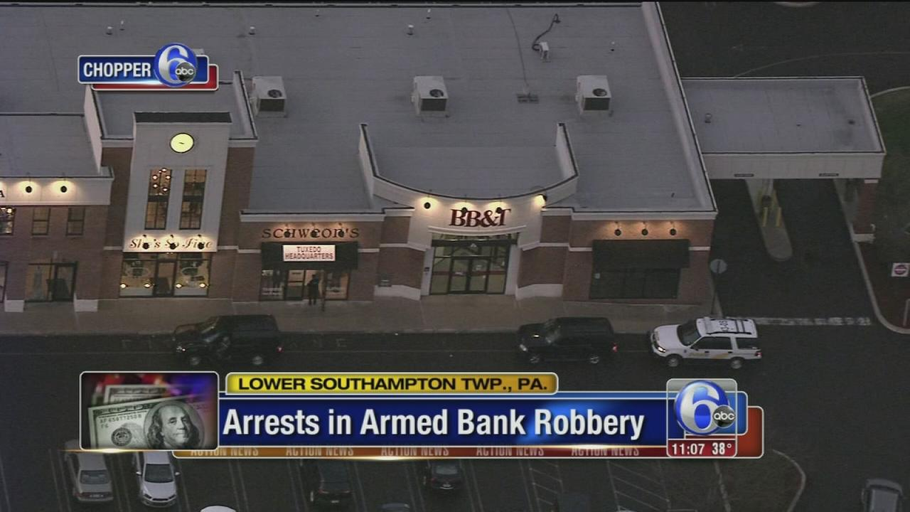 VIDEO: Arrests in Bucks Co. bank robbery