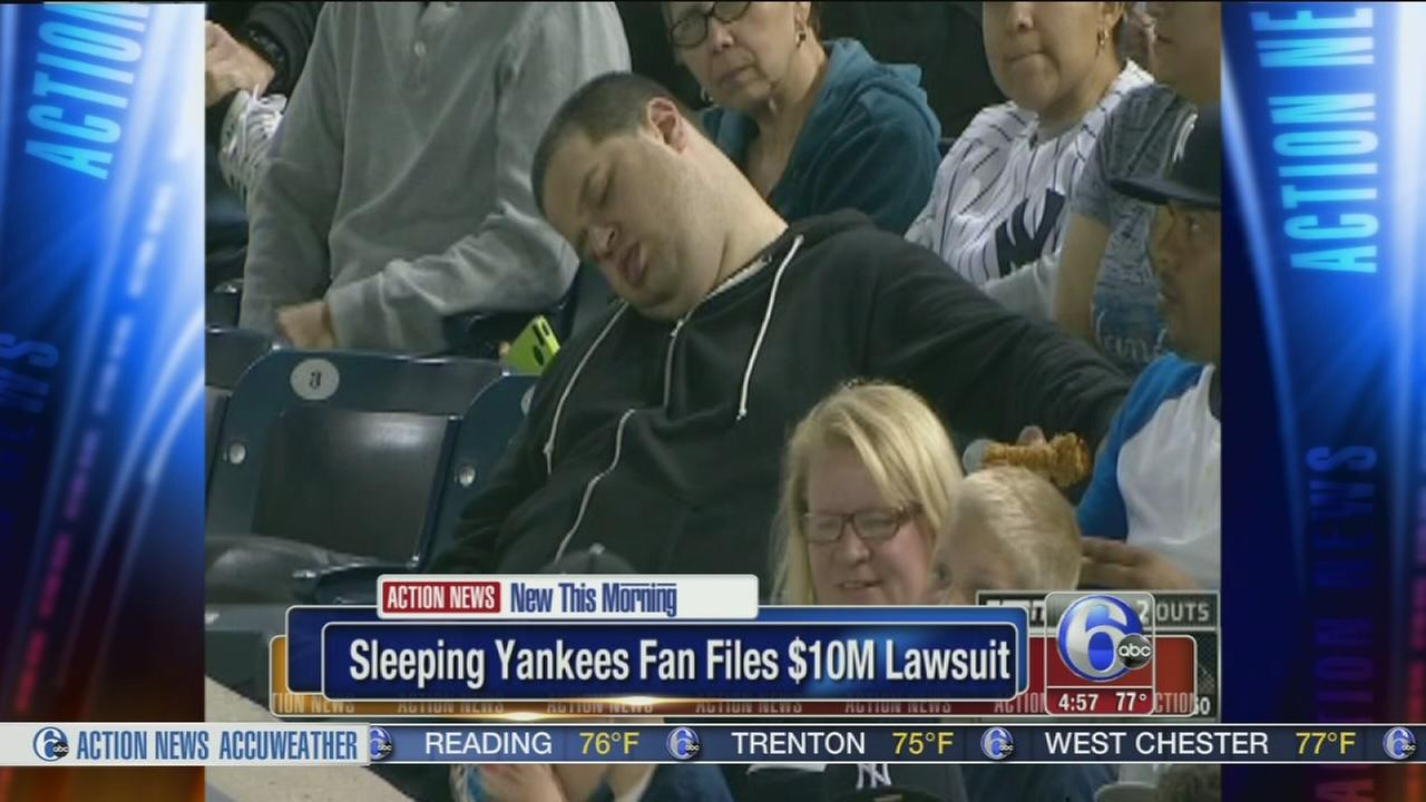 VIDEO: Sleepy Yankees fan files $10M lawsuit